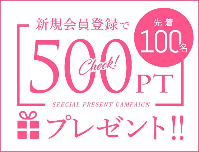 新規会員500ポイントプレゼント